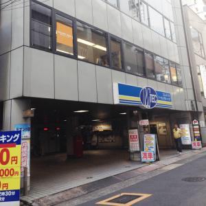キレイモ名古屋栄店までの案内。矢場町駅の4番出口から質ウエダまで向かい1階が立体駐車場のビルまで向かう